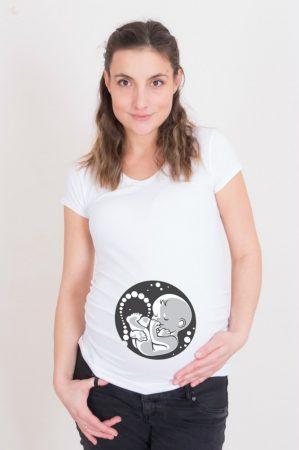 Kismama póló (mintás, feliratos) - Magzat
