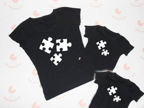 Anya két gyerek póló szett -puzzle
