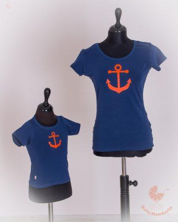 Anya lánya póló szett - tengerész sötétkék