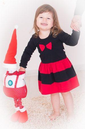 Karácsonyi Fekete Piros babaruha