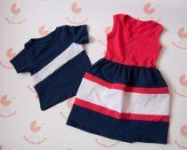 Apa lánya szett - lányos maxi ruha és apa póló