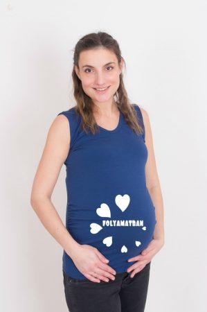 Kismama póló (mintás, feliratos) - Szívecskés töltés folyamatban