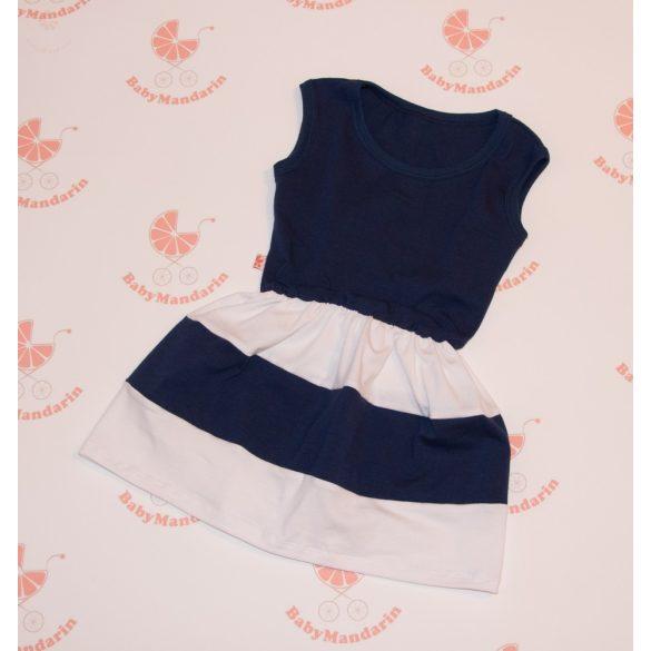 Gyerek ruha, baba ruha (sötétkék - fehér)
