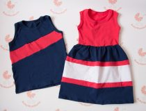 Tesós ruha szett - lányos maxi ruha és kisfiús atléta