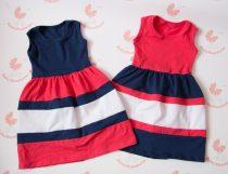 Tesós ruha szett - lányos maxi ruha