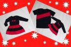 Anya-Lánya ruha - Apa póló (Karácsonyi fekete-piros)
