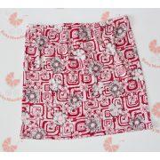 Piros kockás virágos szoknya
