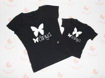 Anya lánya póló szett - anya-lánya pillangós
