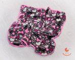 Wellsoft pihe-puha téli baba takaró  - szürke alapon pillangók, szívecskék