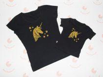 Anya lánya póló szett - unikornis