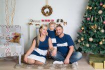 Anya-Lánya ruha - Apa póló (sötétkék-fehér)