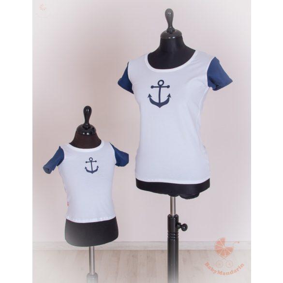 Anya lánya póló szett - tengerész