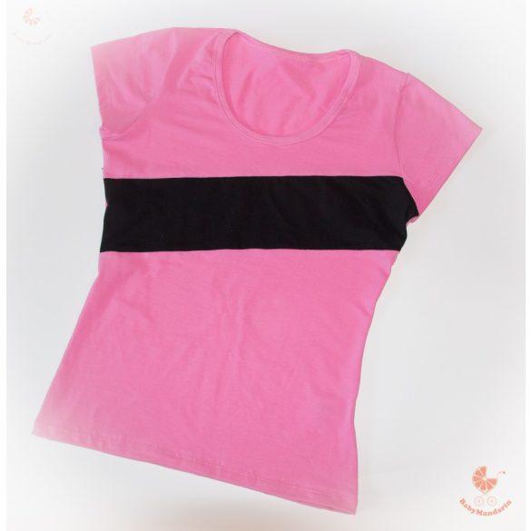 Női póló csíkkal -választható színösszeállítás