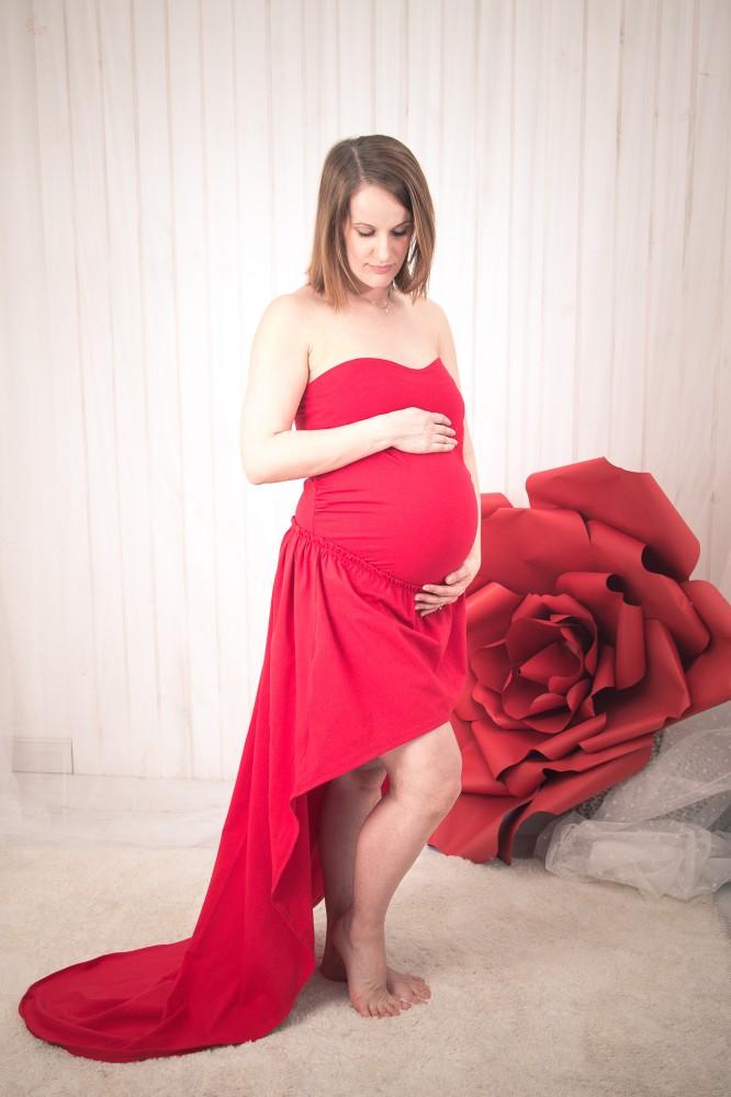 02cd6976b9 Bérelhető kismama ruha PIROS (felső+szoknya) - BabyMandarin - Saját ...