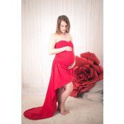 Bérelhető kismama ruha PIROS (felső+szoknya)