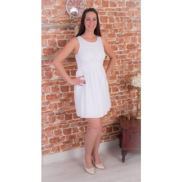 ALKALMI női ruha  (Fehér csipke felső rész, fehér muszlin szoknyarésszel)