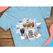 EGYEDI APA póló három gyerekkel