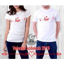Szerelmespár póló szett (Love) VÁLASZTHATÓ SZÍNEK Valentin napi póló szett