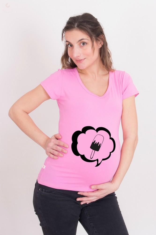 6cb1334806 Kismama póló (mintás, feliratos) - Fagyit kérek! - BabyMandarin ...