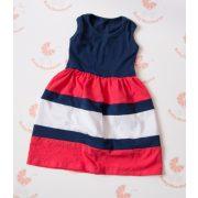 Gyerek ruha, baba ruha (sötétkék-lazac-fehér)