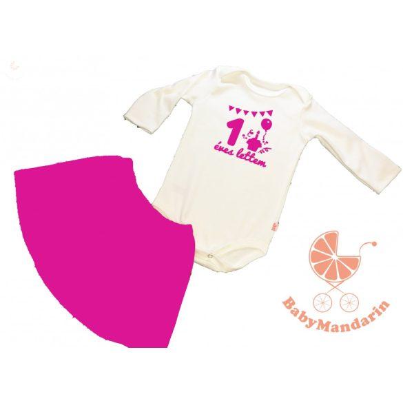 Szülinapos ruha szett pamut szoknyával vagy rövidnadrággal