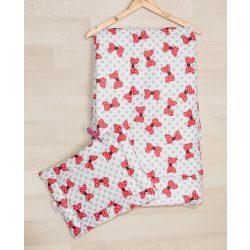 Ovis párna és takaró szett /piros masnis/