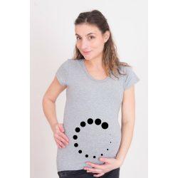 Kismama póló (mintás, feliratos) - Pöttyös töltés