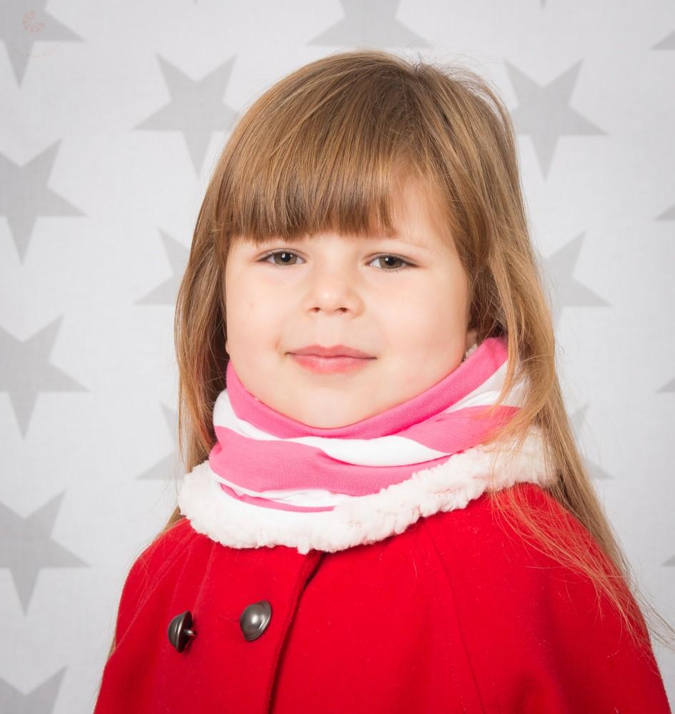 51242be8d6 Meleg, téli csősál, körsál rózsaszín-fehér csíkos - BabyMandarin ...