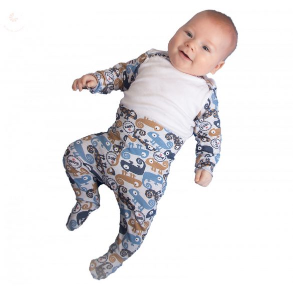 Egyedi body szett, designer bébi ruha, mintás body szett