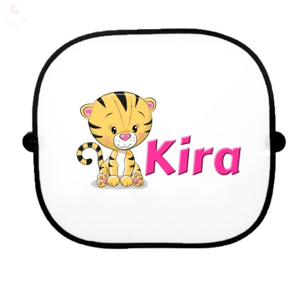 Autós napellenző egyedi névvel Tigris