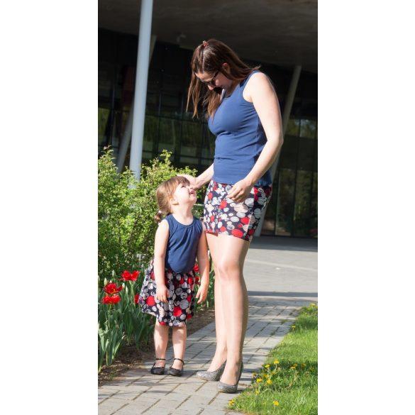 Anya lánya piros pöttyös szoknya szett BabyMandarin Sajá