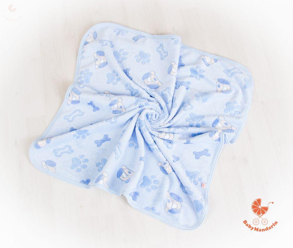 Wellsoft pihe-puha téli baba takaró - kék kutyusos a61603bd8d