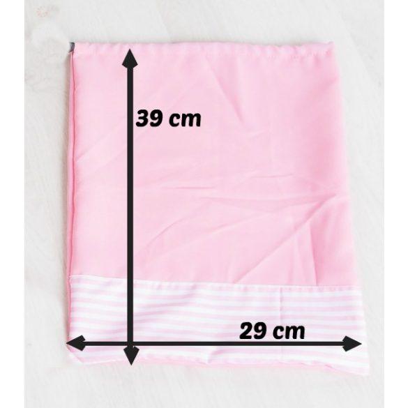 Ovis zsák és torna zsák egyedi névvel és/vagy jellel   /rózsaszín+muffinos/