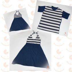 Anya-Lánya ruha - Apa póló (Matróz csíkos-sötétkék)