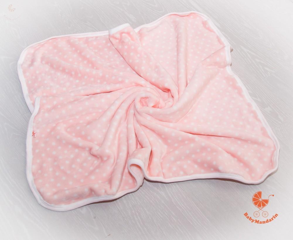 Wellsoft pihe-puha téli baba takaró - rózsaszín fehér pöttyökkel ... d36e00fcd1