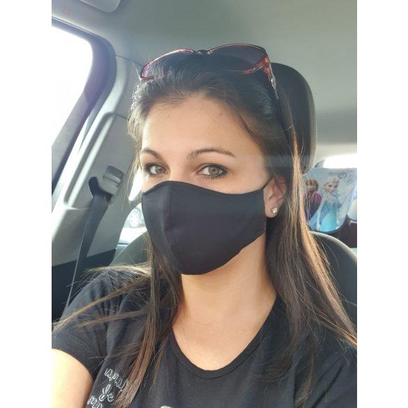 Orrnál varrott textil maszk