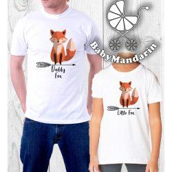 Daddy Fox Little fox- Férfi és gyerek póló Apa és fia póló NYOMTATOTT