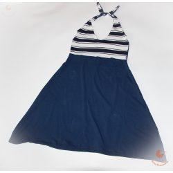 Női ruha (sötétkék-matróz csíkos)