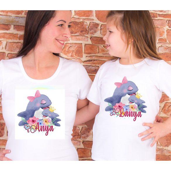 Anya lánya póló szett Delfines