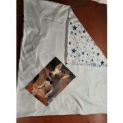 Két oldalas baba, gyerek takaró (polár+pamut) EGYEDI FOTÓVAL, NÉVVEL, GRAFIKÁVAL