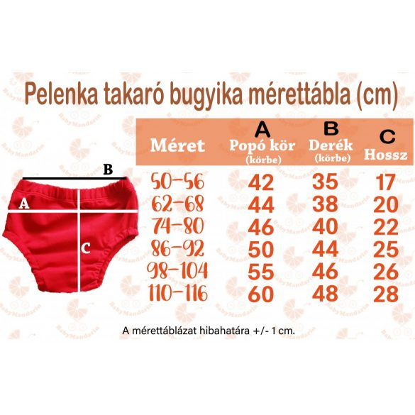 Pelenkatakaró bugyi - pink szívecskés