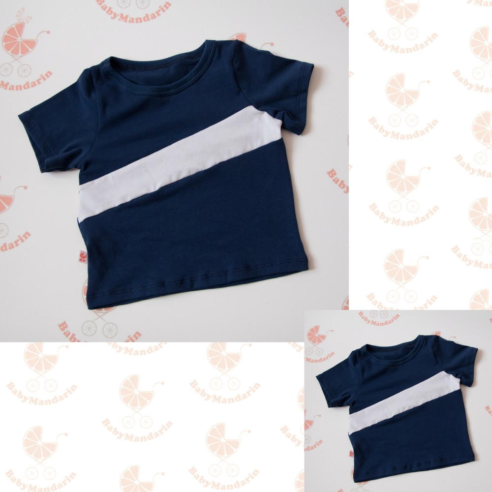 5f2a4b30343 Apa - fia póló (sötétkék fehér) - BabyMandarin - Saját kollekciós ...
