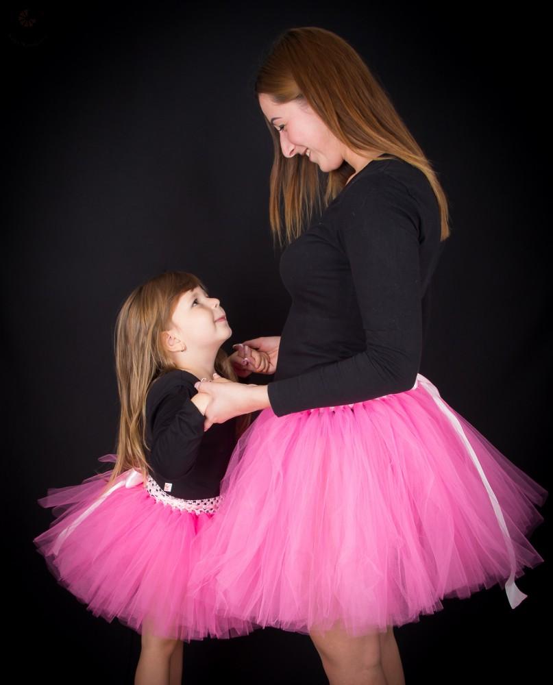 6d5a7c78fe Anya lánya tüllszoknya szett, tütü szett Rózsaszín - BabyMandarin ...