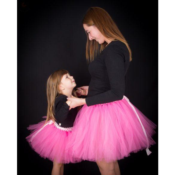 Anya lánya tüllszoknya szett, tütü szett Rózsaszín