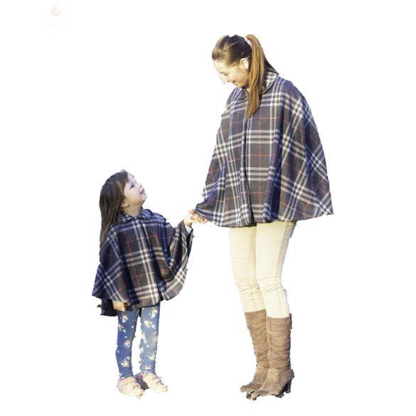 Anya lánya perelin szett Szürke kockás