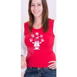 Karácsonyi női felső, női póló (Mikulás)