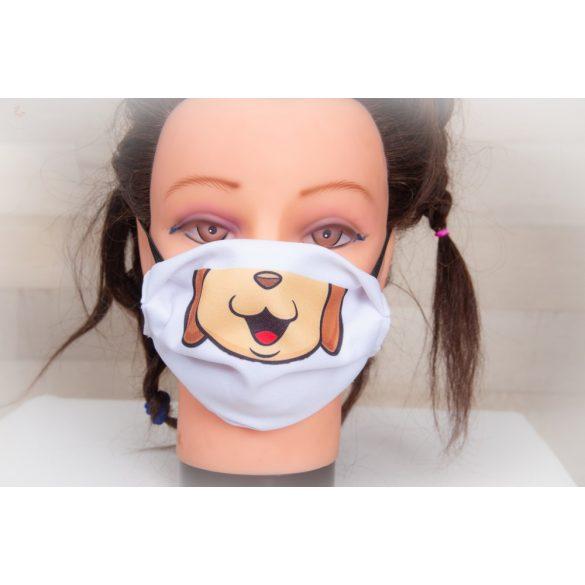 Designer textil maszk, egyedi maszk - KUTYUS - kutya