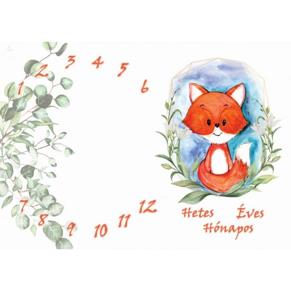 Mérföldkő takaró - hetes, hónapos, éves takaró  NAGY MÉRETŰ hónapos pléd /barna macis/