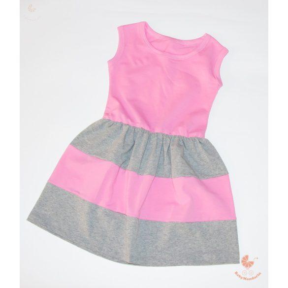 Gyerek ruha, baba ruha (rózsaszín-szürke)