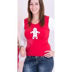 Karácsonyi női felső, női póló (Mézi)